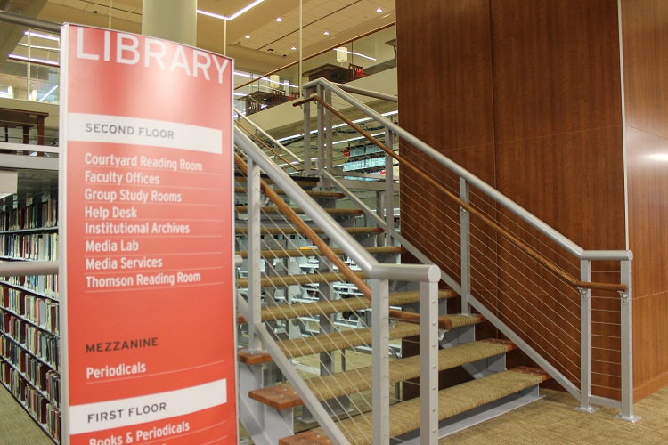 Picture of first floor of Library