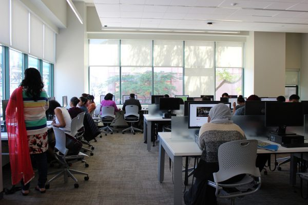 Picture of students in the Media Lab