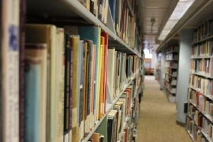 Picture of book stacks