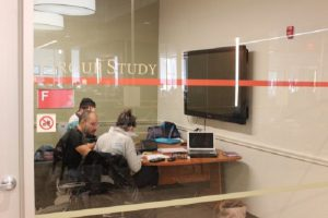 Picture of students in a group study room
