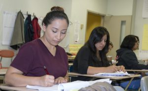 Picture of students working