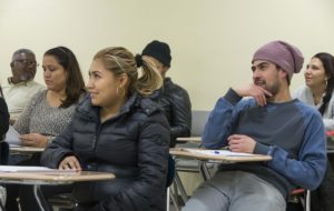Picture of students in class