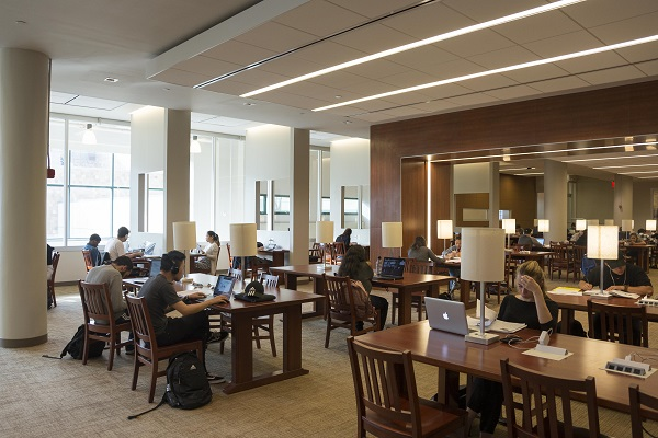 Picture of students working in the Library