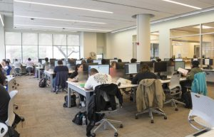 Picture of students at computers