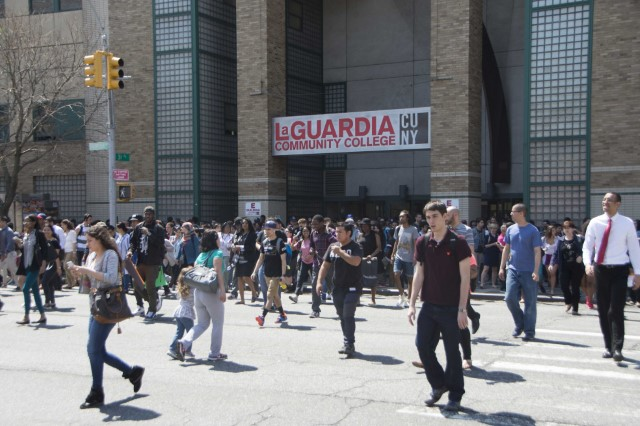 Picture of students outside LaGuardia Community College