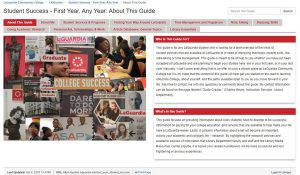Student Success homepage