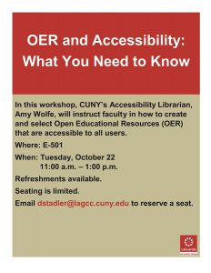 OER and Accessibility announcement