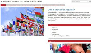 International Relations and Global Studies Guide