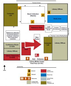 Map of the Library indicating the IT Lab