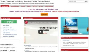 homepage of library guide