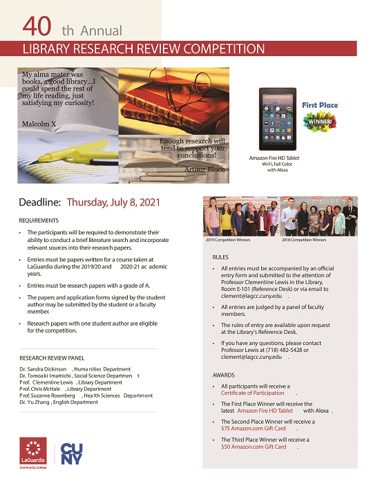 Picture of Research Review Competition Flyer